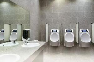 荷兰厕所内建智能小便器 在方便时播放广告